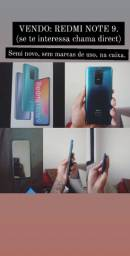 Xiaomi Redmi Note 9, semi novo na caixa.