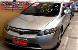 Honda New Civic . prest. 699 mensais + pq entrada 12x AUT + DVD