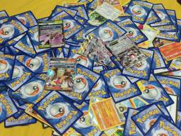 Kit cartas Pokemon colecionador completo -330 cartas + latas