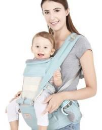 Canguru Ergonômico Bebê 2 Em 1 Carregador Bebê - Azul