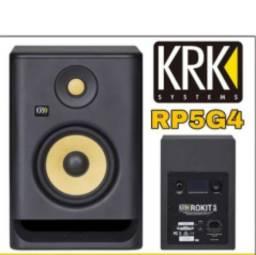 Monitores krk rokit rp5 g4 bivolt lançamento profissional