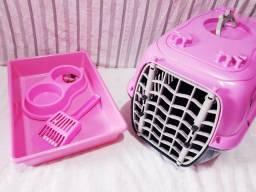 Kit completo rosa para gato