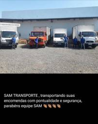 Caminhão baú retornando de barão do Grajaú