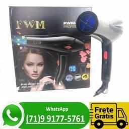 Secador De Cabelos Profissional 3000w 110v Com Neon Azul (NOVO)