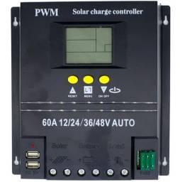Controlador De Carga 60a 12v 24v 36v 48v Energia Solar