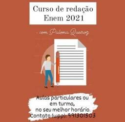 Aulas de Redação para Enem 2021