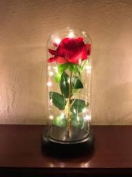 @ mandelladecorados Cupula Luminária Rosa Bela e a Fera com Led Surpreenda quem você ama