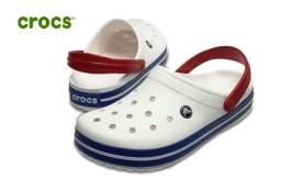 Crocs Crocband - 100% Original | Off White & Blue No.40 | Novo!