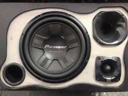Sub Pioneer + JBL D250 + Amplificador 1000w RMS