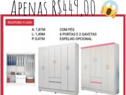MEGA OFERTA guarda roupas flash 6 portas  IMPERDÍVEL!!!