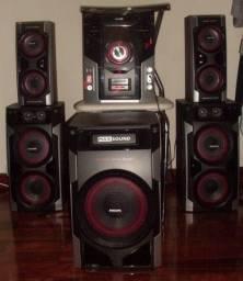 Mini System Hi-Fi com MP3 e controle