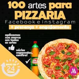 Artes Pizzarias, 100 artes para divulgação de pizzarias nas mídias sociais