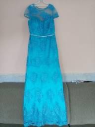 Vestido De Festa Azul Tiffany