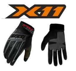 Luva X11 Nitro 3 com Touch Motociclista Ciclista Unissex Conforto e Segurança <br>