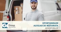 Ajudante de motorista Araçatuba