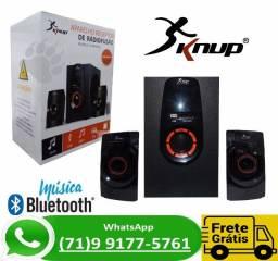 Caixa De Som Pc Tv Notebook Bluetooth 2.1 Subwoofer Usb Bh6010 (NOVO)