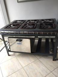 Fogão industrial 6 bocas com forno