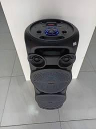 Caixa De Som Torre com Microfone sem fio