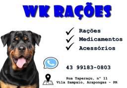 Pet shop, rações, acessórios e medicamentos