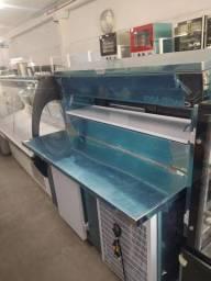 balcão refrigerado com condimentadora tanque duplo 1,50 *douglas