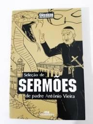 LIVRO SELEÇÃO DE SERMÕES DE PADRE ANTÔNIO VIEIRA