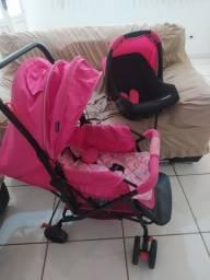 Carrinho + bebê conforto Cosco - usado