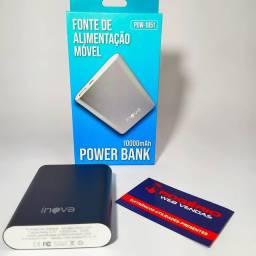Carregador portátil Power bank 10.000mAh Inova Frete Gratis
