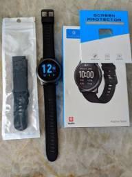Pulseira extra+Película+Pronta Entrega+ Smartwatch Haylou Solar LS05
