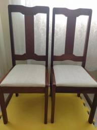 Conjunto 6 cadeiras maciça assento Curvin