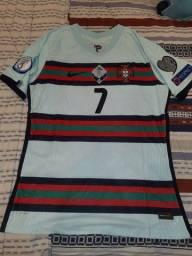 Camisa de Portugal modelo jogador da Eurocopa