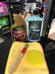 Kit Limpeza e Hidratação de Plásticos Automotivos Interna e Externa Cadillac