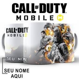 Call of Duty mobile Caneca Porcelana personalizada com nome ou nick