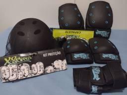 Kit Proteção skate produto novo nunca foi usado