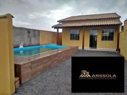 Título do anúncio: LJ - Linda casa com 2 quartos com piscina em Unamar, Tamoios - Cabo Frio - RJ