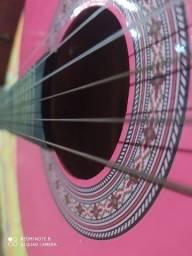 Violão acústico clássico, Pink 6 cordas.