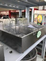 Fritadeira 02 cubas de 5 litros elétrica 220v