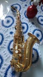 SAX soprano curvo eastimam banho ouro