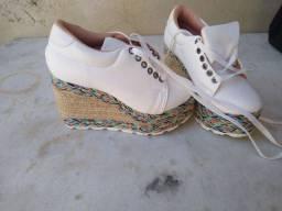 Sapatênis , sandália 9 cm de salto ...n 34
