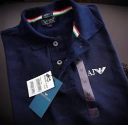 Camisa Polo Armani Jeans Premium