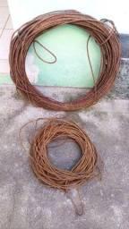 Vendo cabos de aço usados