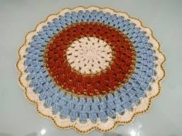 Sousplat de crochê com 4 peças novo