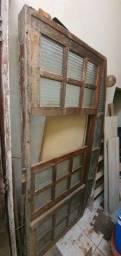 Janela de madeira 2x1