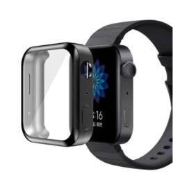 Capa De Proteção Para Xiaomi Mi Watch Cores Preto e Prata