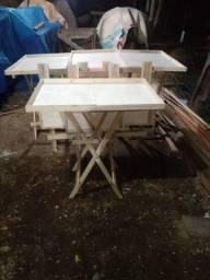 Mesa tabuleiro 80 x 55 cm