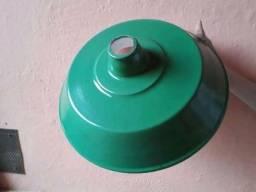 Luminária  ou refletor BEDD de 14 polegadas com bocal E-27 de louça - novo