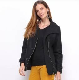 Casaco tipo jaqueta em lã batida - Tam G sem uso