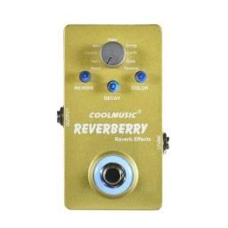 Pedal Reverb Reverberry Coolmusic 9 Efeitos Novo Na Caixa