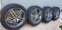 "4 rodas aro 20"" Mak Italy c 4 pneus 255/50 toyo"