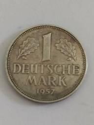Moeda 1 marco alemão 1957