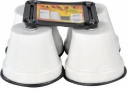 Kit Com 4 Pés Para Geladeira Freezer Fogão Com Rodinhas